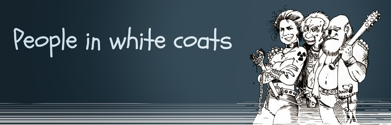 People in white coats