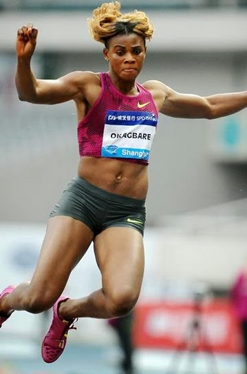 blessing okagbare wins paris