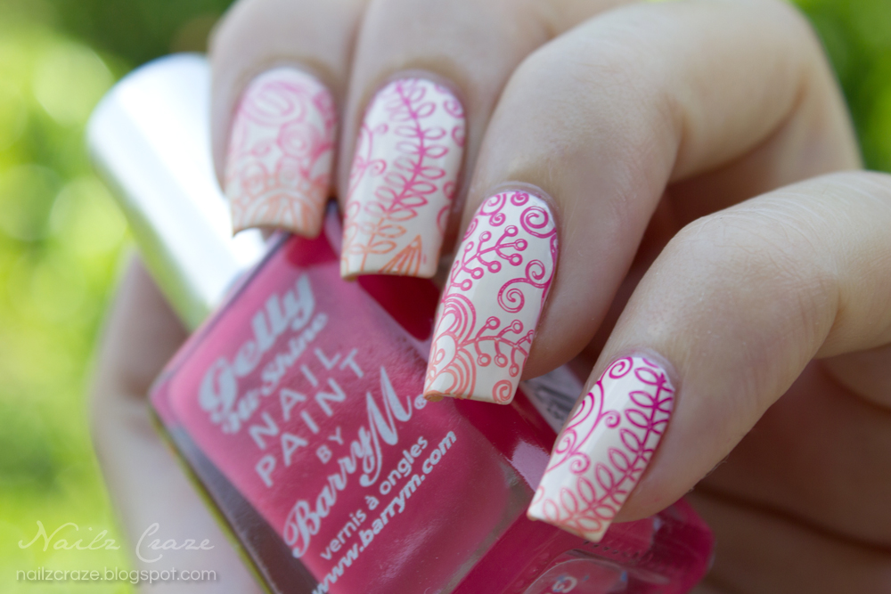 Floral Gradient Stamping - Nailz Craze
