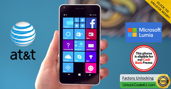 Factory Unlock Code for Microsoft Lumia 640 from At&T