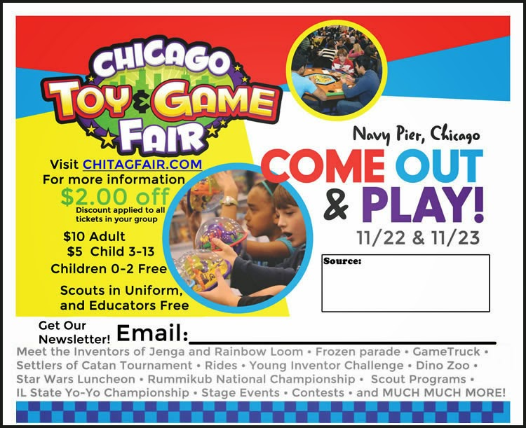 Chicago, ChiTAG Fair, Toys, board games, Family game night, game, photos, discount, coupon, fun, event, family