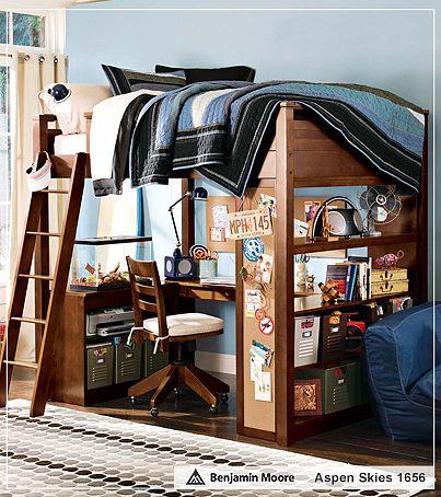 дизайн комнаты для подростка фото, кровать чердак