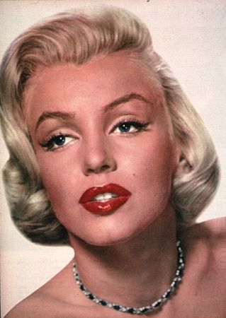Marilyn Monroe Eye Color Chin, eyes and nose..20-30