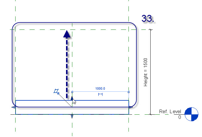 how to create revit family with material