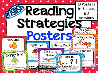 Reading strategies posters and a freebie