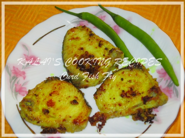 Curd Seer Fish Fry / Thayir Vanjaram Meen Varuval