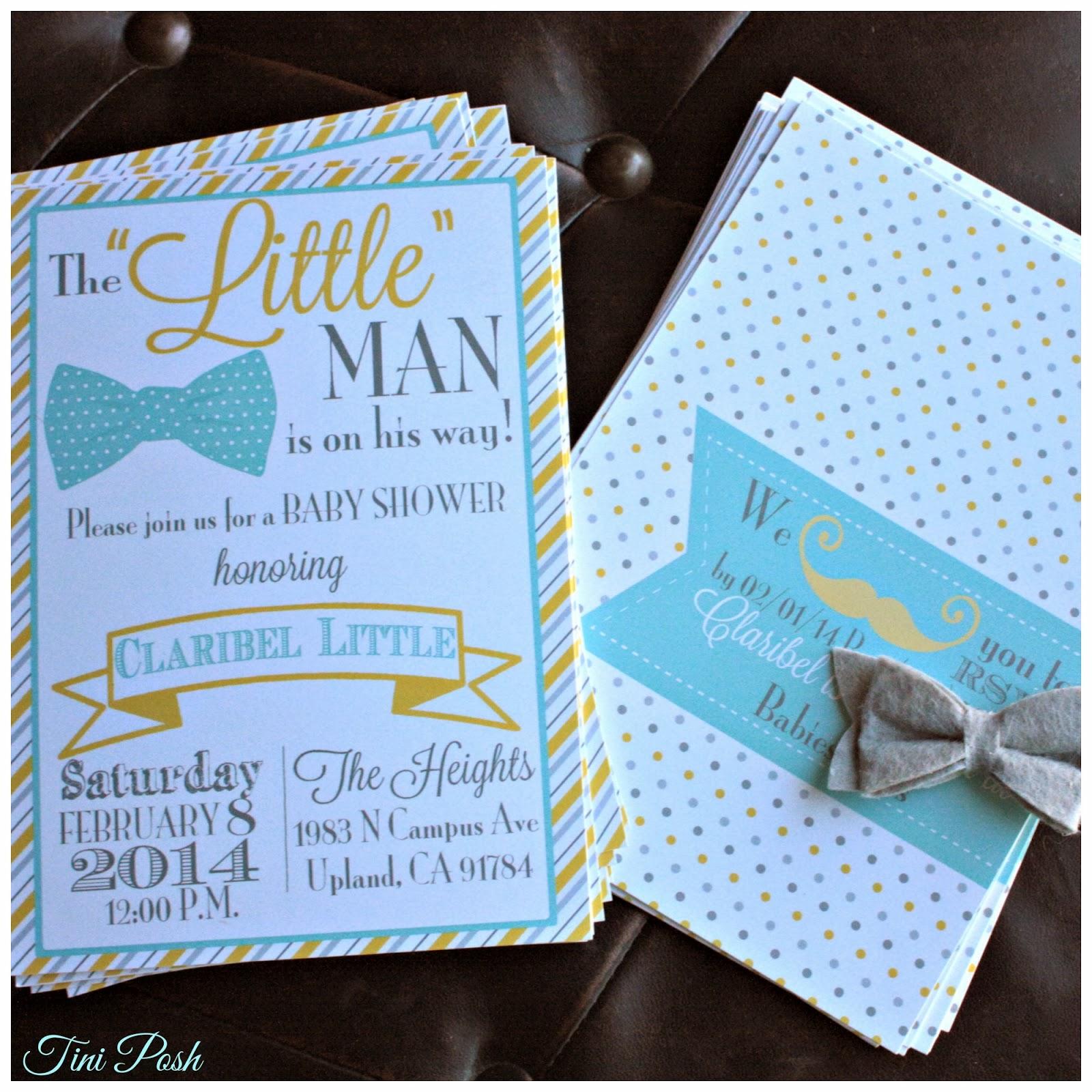 "Tini Posh Claribel s ""Little Man"" Baby Shower"