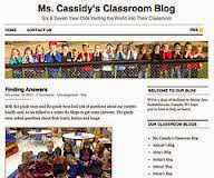 Screen shot of Mrs Cassidys Blog homepage