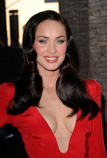 Megan Fox Long Sleek Retro Hairstyle