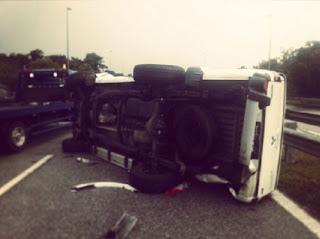 Pelakon Terkenal Terlibat Kemalangan Jalan Raya
