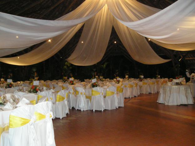 Decoracion En Telas Para Matrimonio ~ Telas delgadas y algo desordenadas, permiten mayor agilidad y suavidad