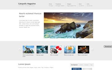Catopolis Magazine Blogger Template