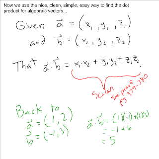 how to find dot product of vectors