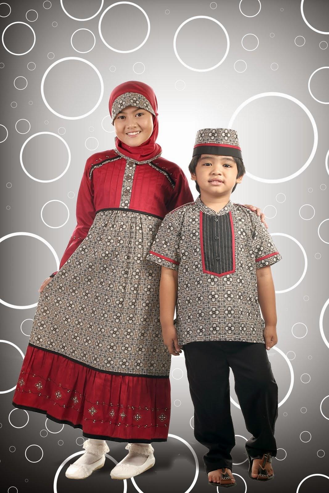 Contoh Desain Model Baju Batik Muslim Untuk Anak Terbaik