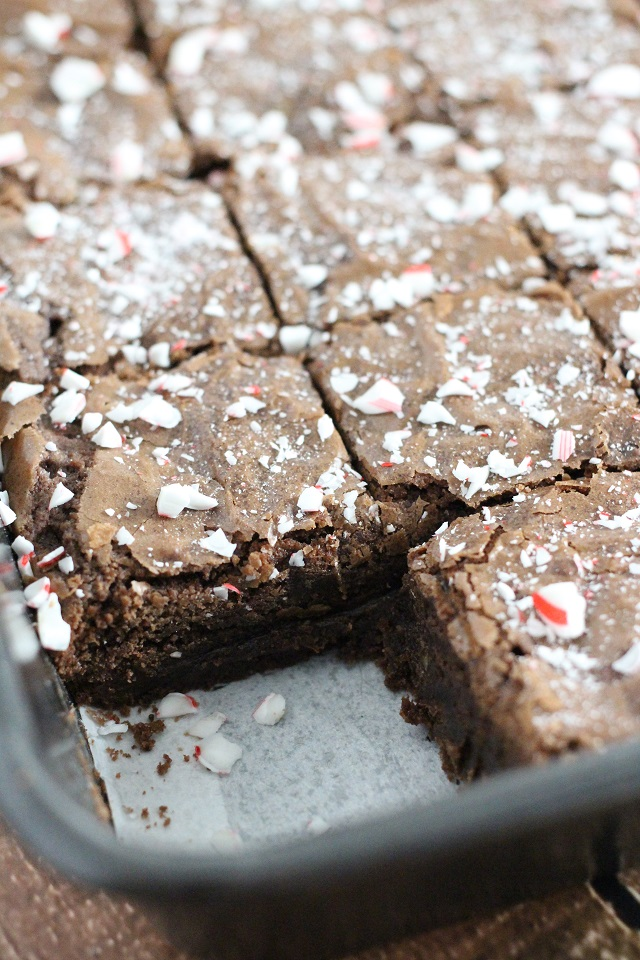 Double Chocolate Peppermint Brownies Recipe