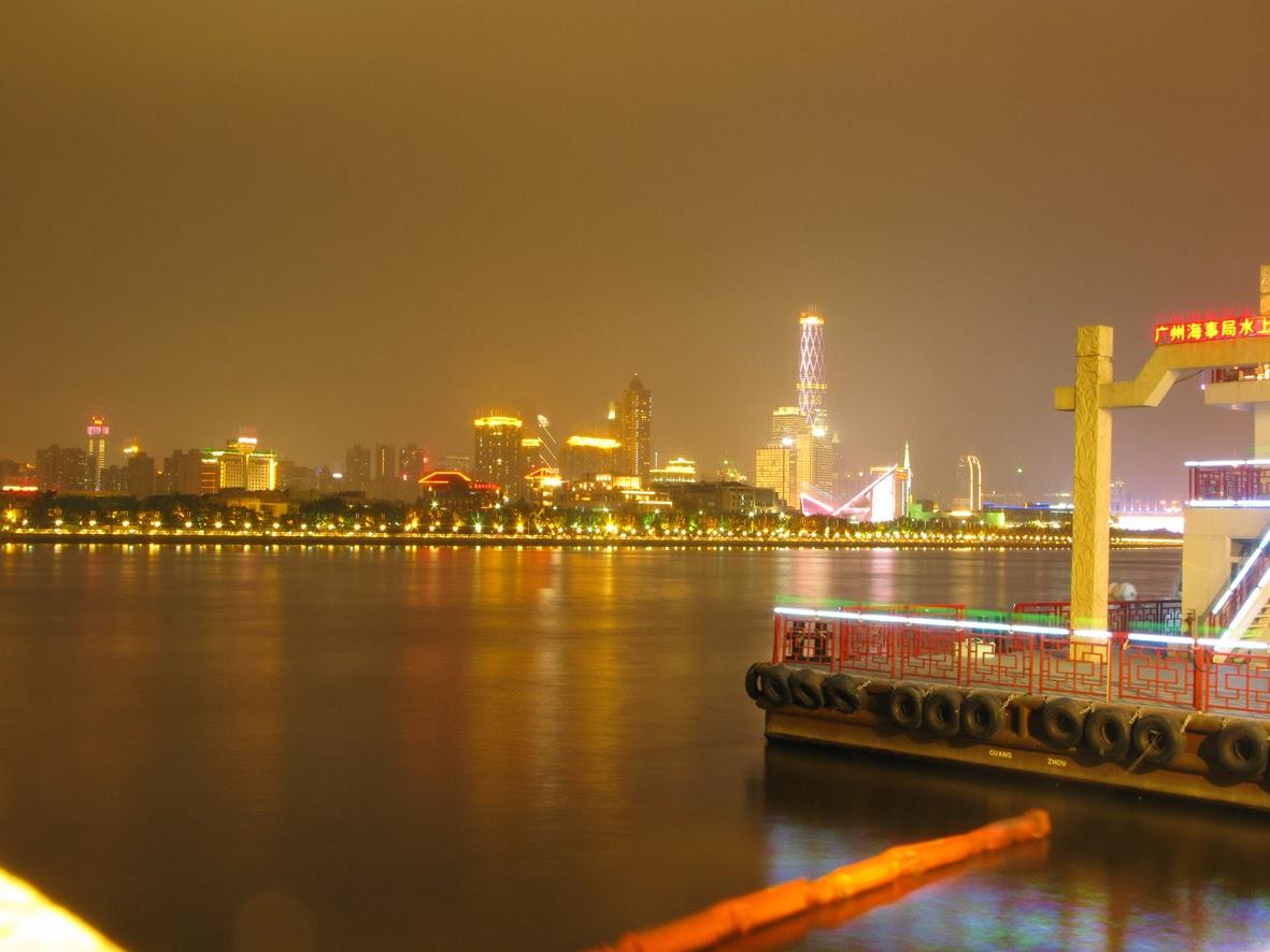 Guangzhou nocą