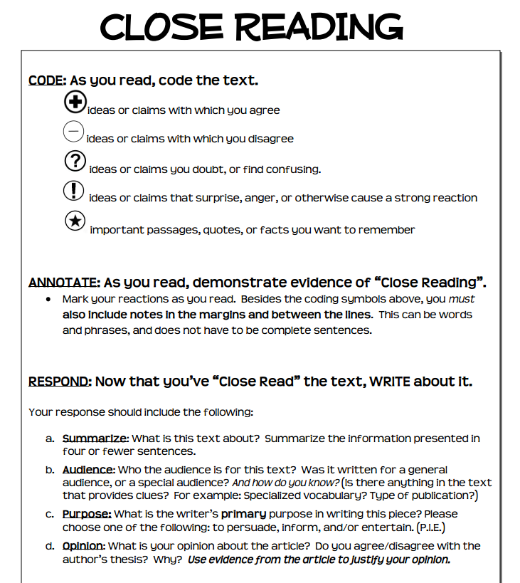 close reading essay outline Doyle online writing lab site navigation writing student services hum 110 syllabus close reading assignments a close reading cultural references or allusions a close reading should be more than a list of devices, though the essay should move from observation of particular.