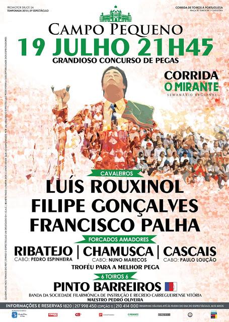CAMPO PEQUENO (LISBOA) 19-07-2018.CORRIDA A PORTUGUESA. O MIRANTE