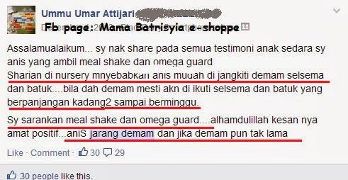 omega guard dan meal shake shaklee