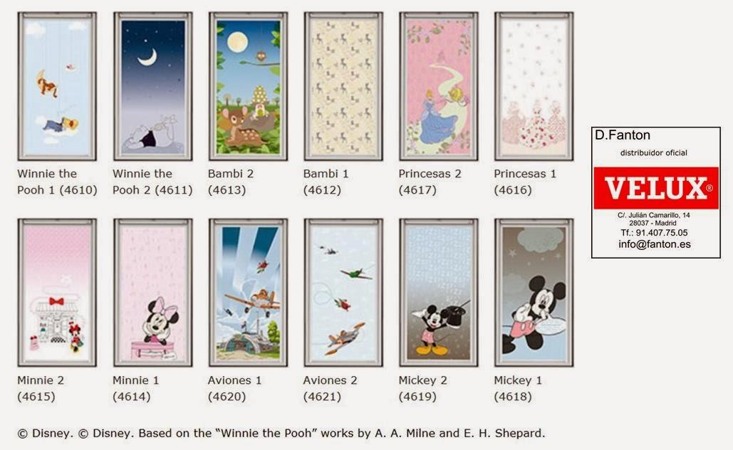 Cortina Baño Winnie Pooh:Todas las cortinas de oscurecimiento de Velux, y también las de la