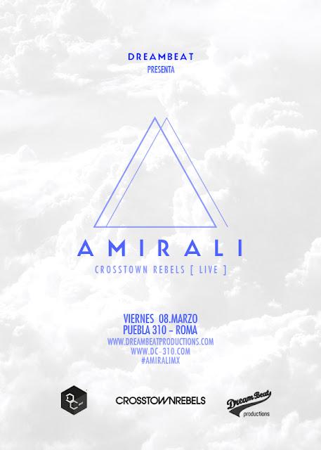 Se presenta AMIRALI en el Disco Club de la col. Roma