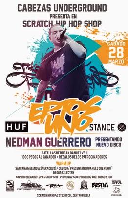 Eptos Uno / Nedman Guerrero en Puebla Marzo 28 2015
