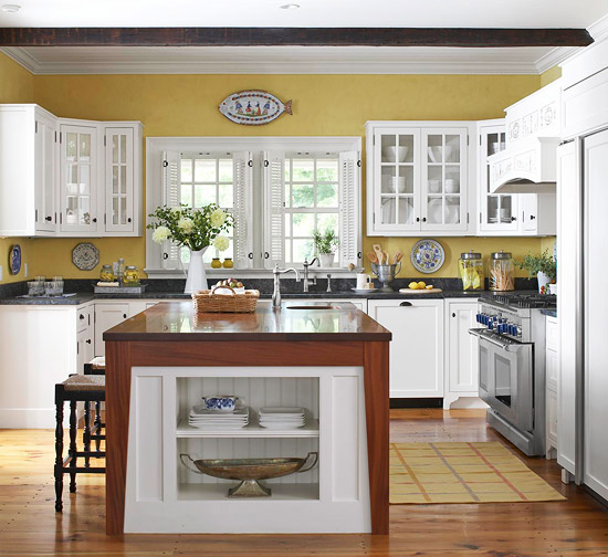 2012 white kitchen cabinets decorating design ideas for White kitchen wall color