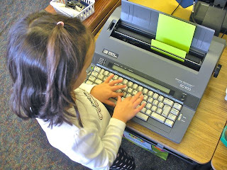 Clever ideas for using typewriters in kindergarten classrooms