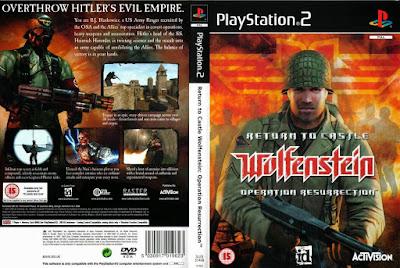 Jogo Return To Castle Wolfenstein - Operation Resurrection PS2 DVD Capa