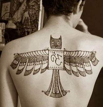 Ideias de tatuagens de corujas para as costas