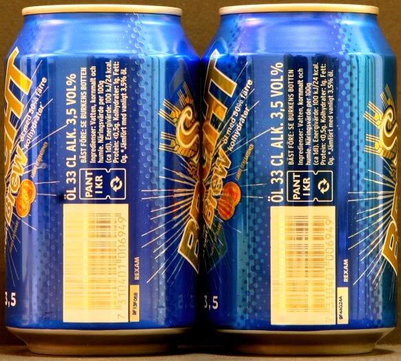 bright öl kolhydrater