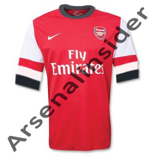 Arsenal new home jersey