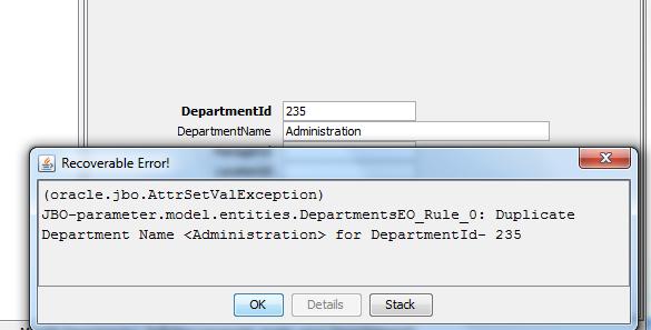 model level validation