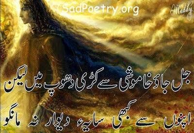 Saya E Deewar SMS Shayari
