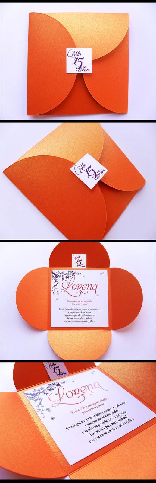 Puntosur gr fica para eventos tarjeta invitaci n 15 - Como hacer color naranja ...