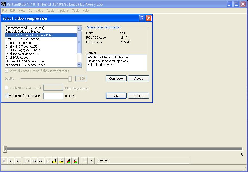 using xvid codec virtualdub full version free software