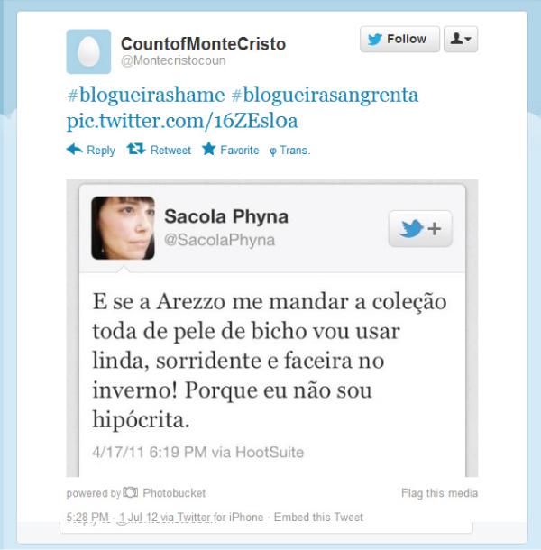 Caso blogueira Shame - Pri Rezende
