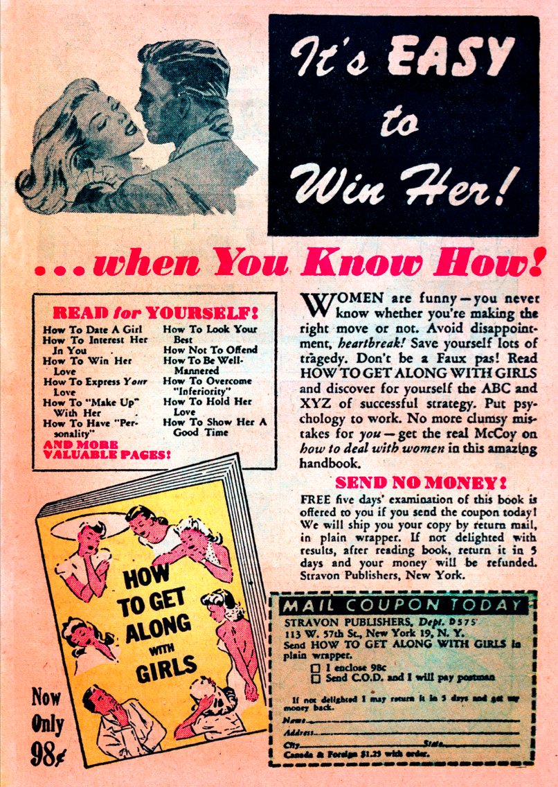 How to Get Along With Girls Comic Book Advertisement