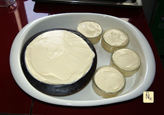 Easter cheesecake antes de hornear