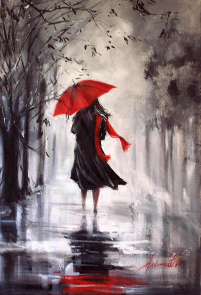 Helen Cottle, 1962 ~ Red umbrella | Tutt'Art@ | Pittura ...