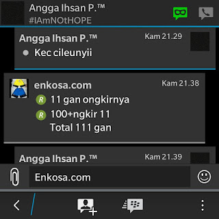 Konfirmasi harga dan ongkir ke alamat Angga Ihsan di enkosa sport toko online terpercaya