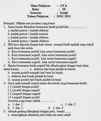 download bank soal kelas xi ipa