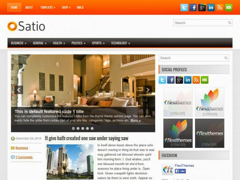 Satio - Free Wordpress Theme