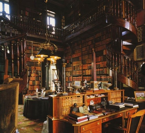 Home library design ideas old private library for Private library design
