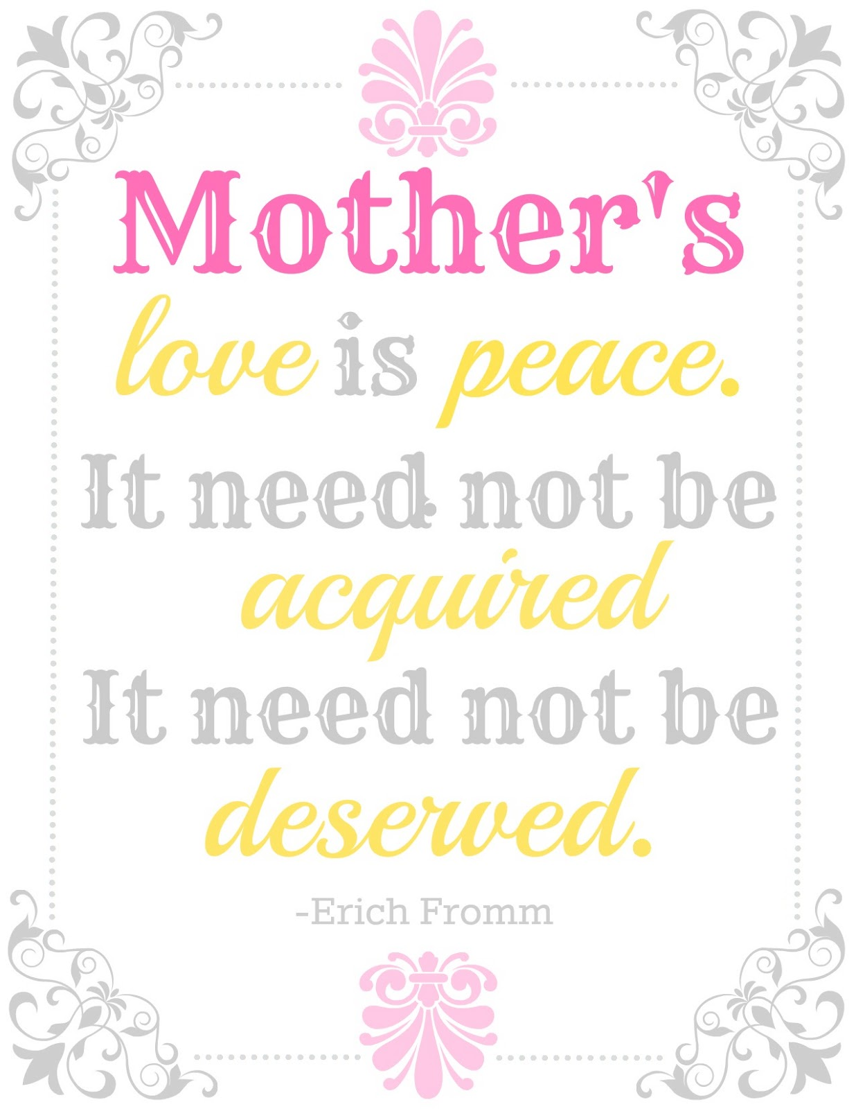 Quotes About Love Mother : BLISSFUL ROOTS: Mothers Day Printable