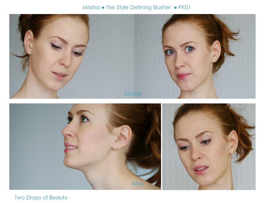 Missha the style defining blusher pk01, румяна, макияж, дневной нежный
