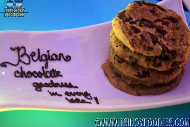 belgian chocolate chip cookie