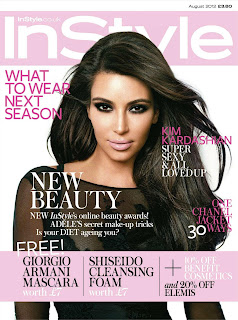 Kim Kardashian hot on the cover of InStyle UK August 2012