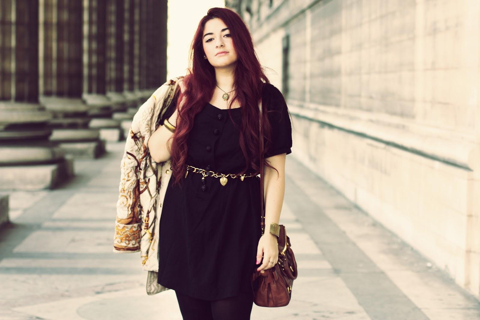 La Petite Robe Noire & le gilet Hermès - Blog Mode