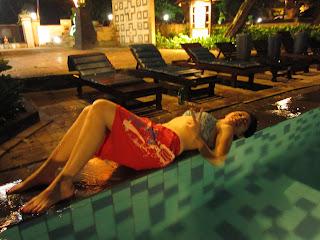 pool dipping in Bali